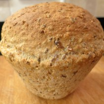 Oat and Linseed flowerpot loaf