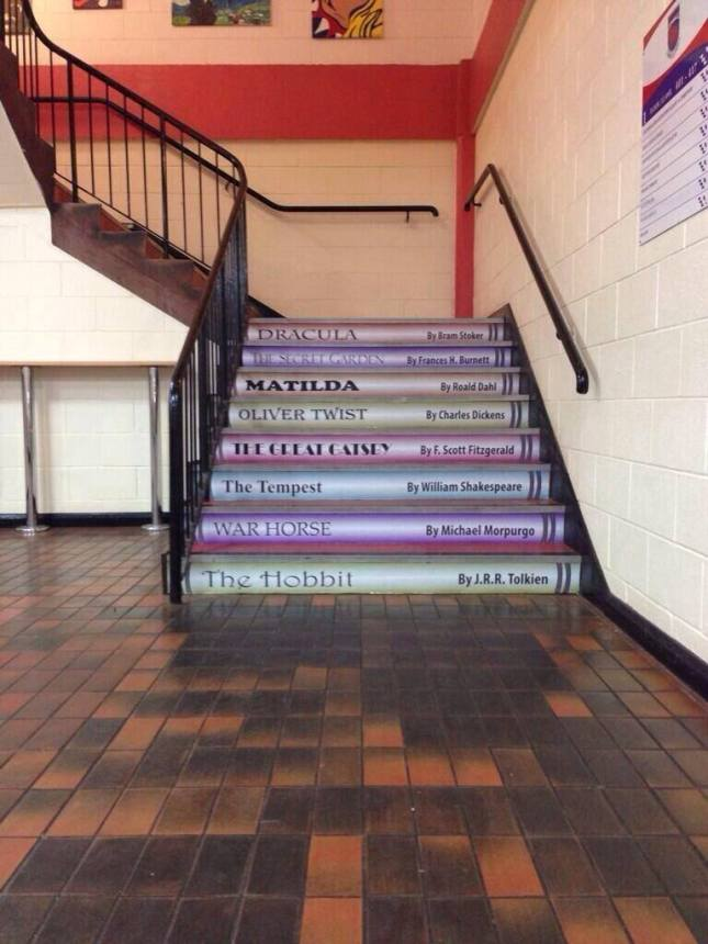 Pontypridd High School stairs