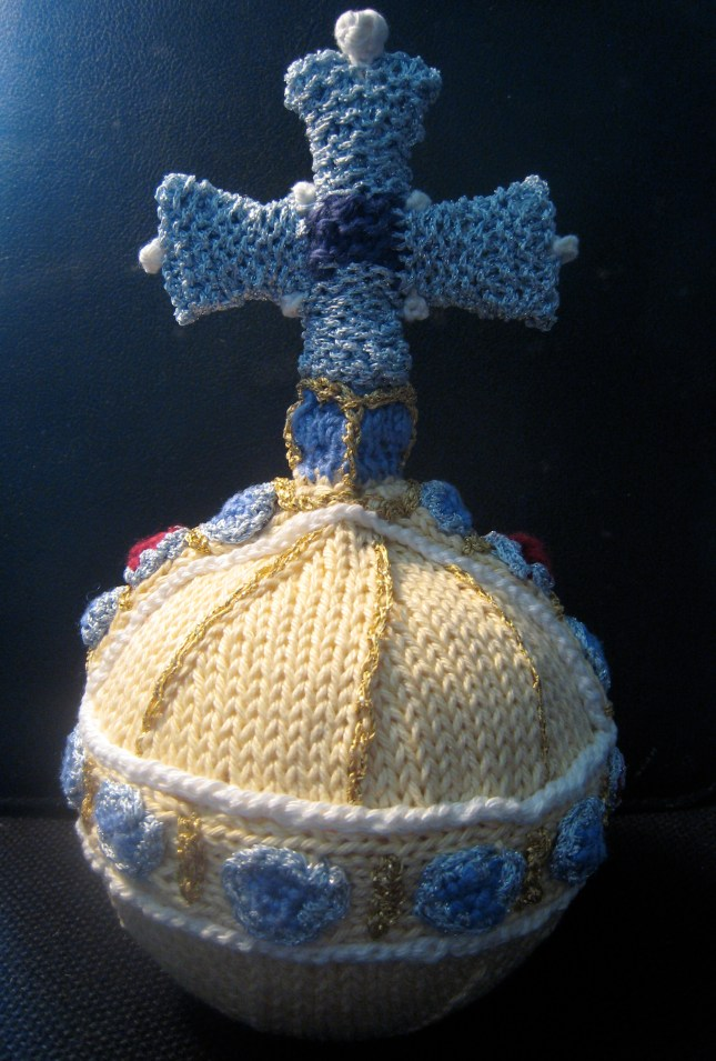 Knitted orb, all my own design