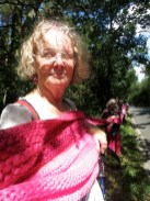 Selfie taken at 1pm as the scarf was held up all along the 7 mile route