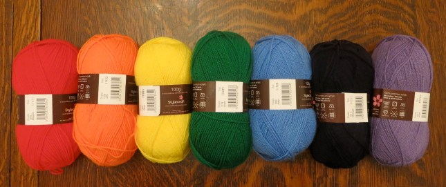 Rainbow Yarns for a new project