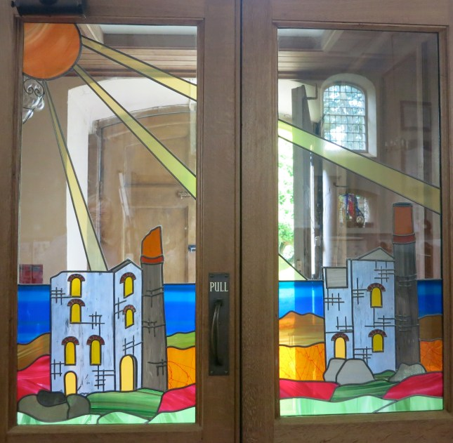 Stained glass window by Julie Shedd
