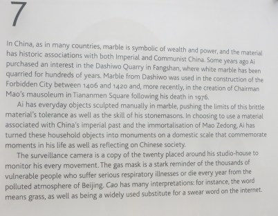 Information on the marble sculptures