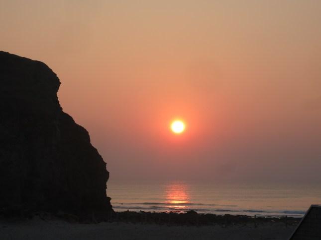 Sunset over Porthtowan