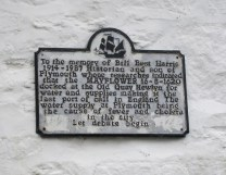 Fascinating bit of history remembered on this plaque high up on the wall