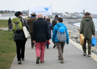 Walking along the front from Newlyn to Penzance