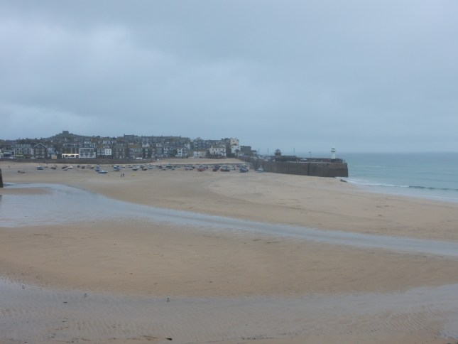 St Ives in the rain 7pm