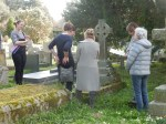 Rehearsing at the grave of Suffragette sisters