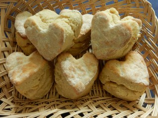Heart Scones made by Ti for a cream tea