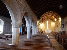 Wonky pillars in this 12th century Church