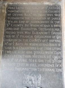 Stone to Sir Arthur Northcote
