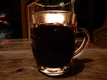 Half pint of mulled wine