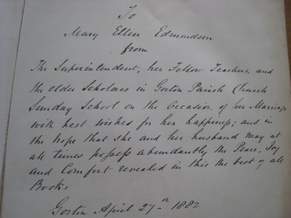 Dedication to my Great Grandmother on my Mother's side (not the Suffragette)