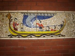 Mosaics near the car park
