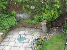 View of the garden from upstairs