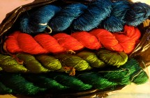Even more beautiful silk embroidery threads. New project needed!