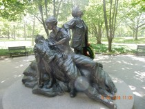 A very moving sculpture recognising the role of women in the Vietnam war