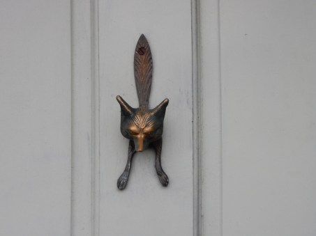 Fabulous fox door knocker