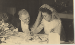 Wedding Holland NZ 1940's