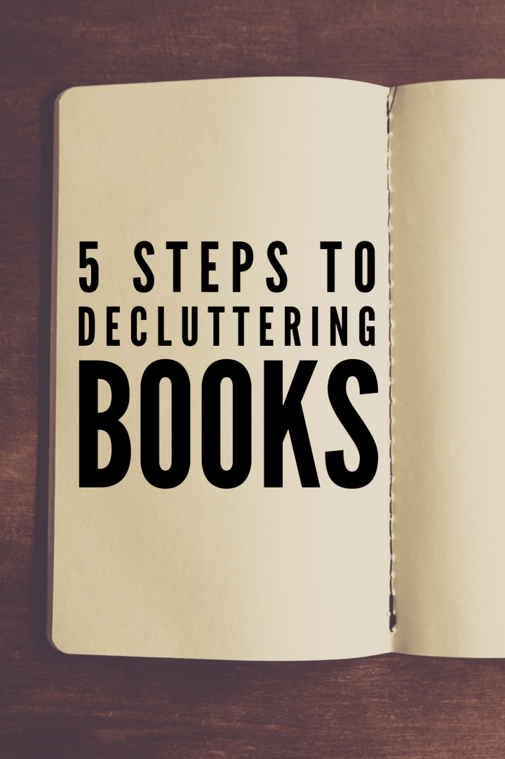 5 steps to decluttering books