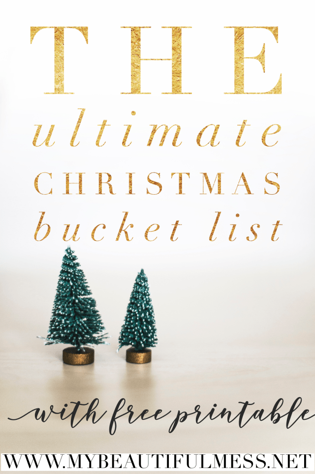 The Ultimate Christmas Bucket List