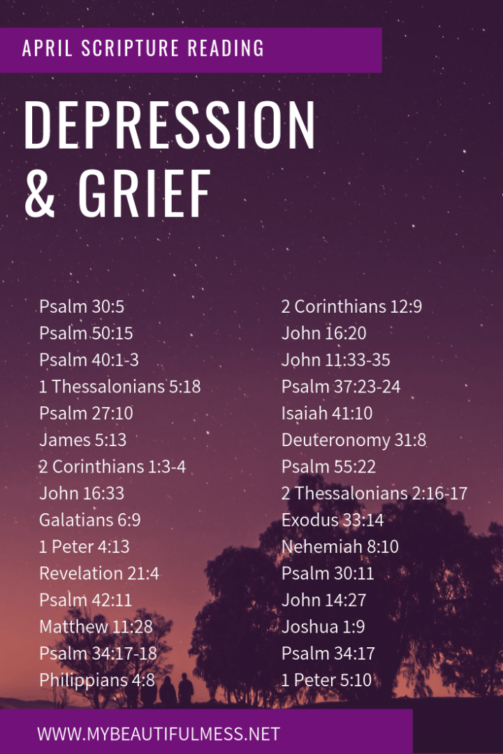 April Scripture Reading: Depression & Grief