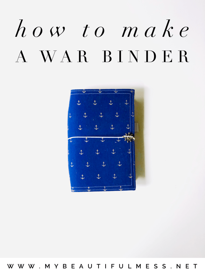 How To Make A War Binder