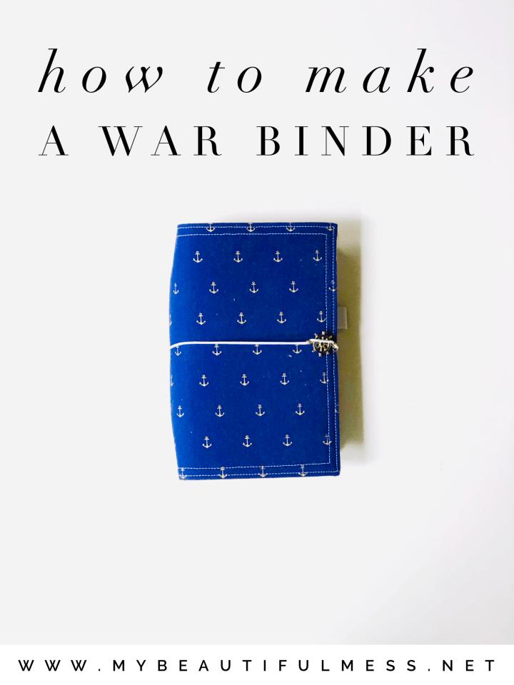 how to make a war binder