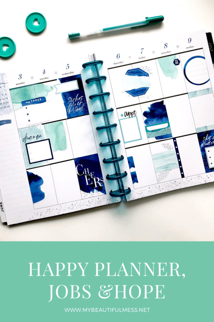 Happy Planner, jobs and hope