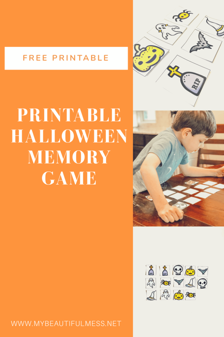 printable halloween memory game