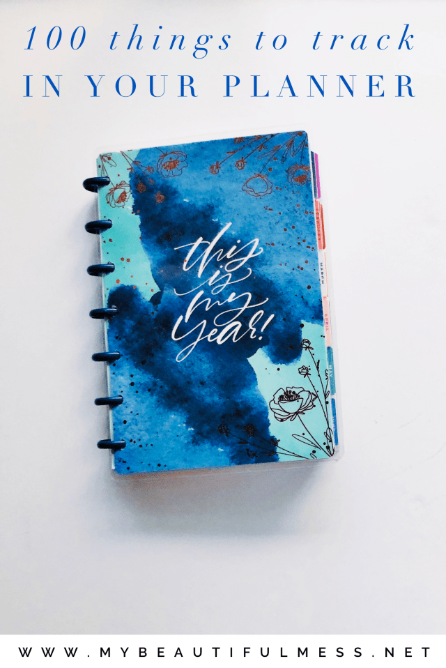 100 things to track in your planner