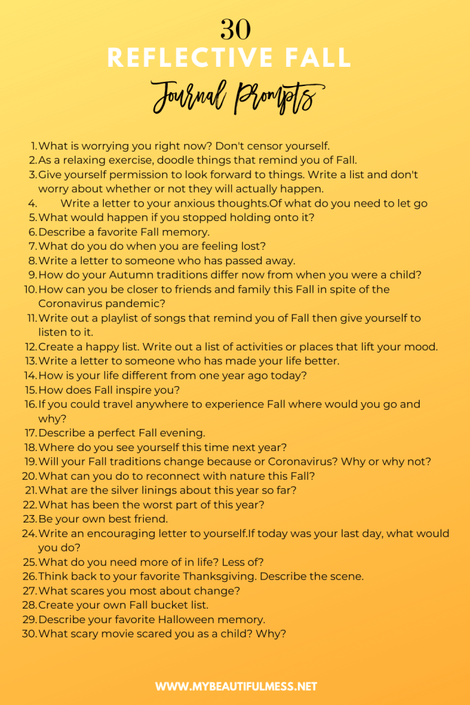 30 reflective fall journal prompts
