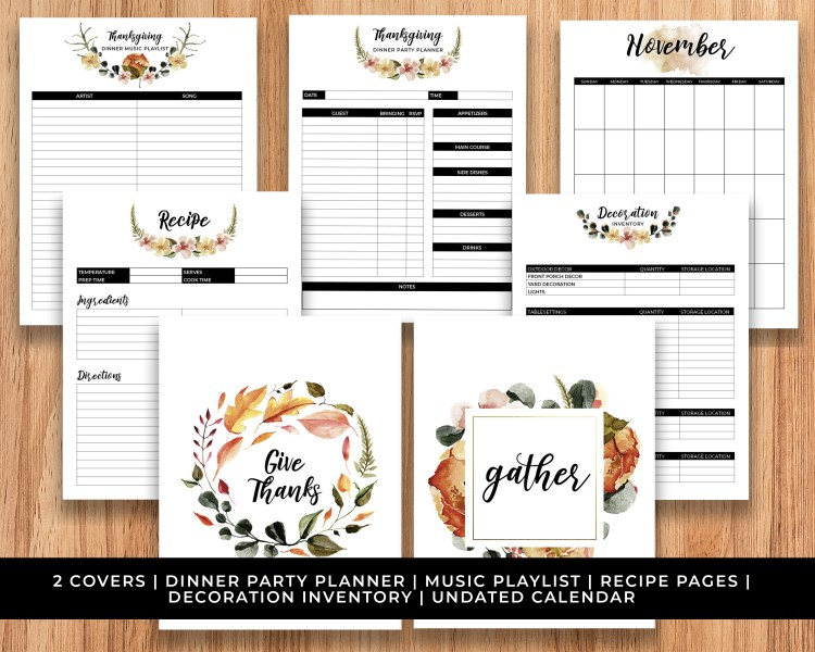 Thanksgiving Printable Planner