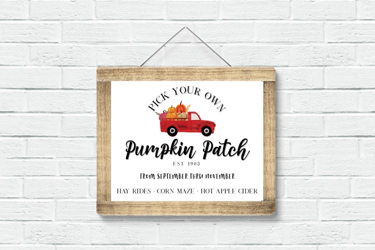 Red Truck Pumpkin Patch Sign