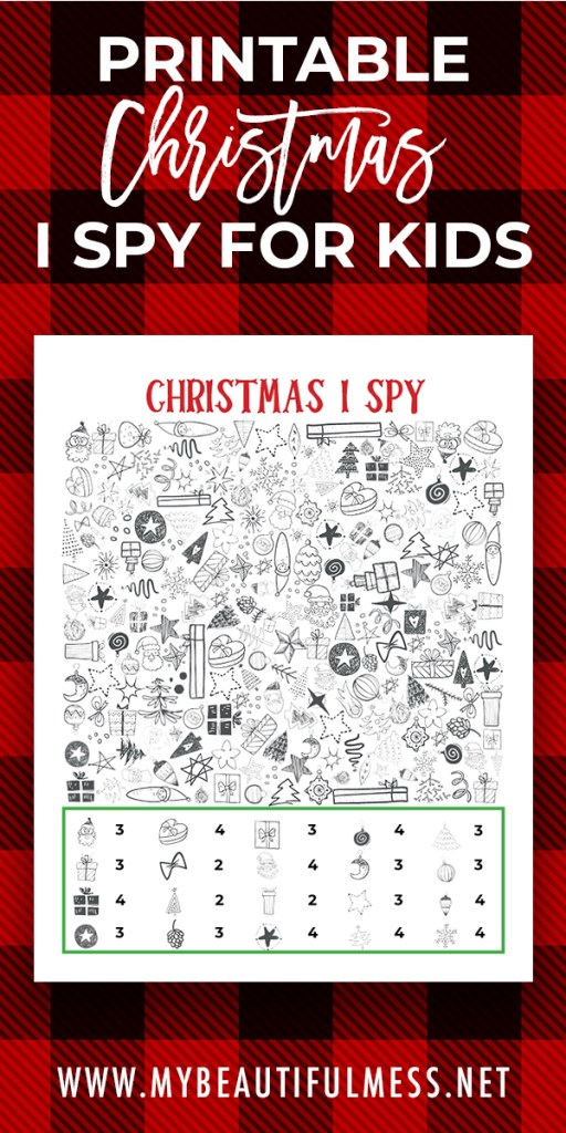 printable christmas I spy