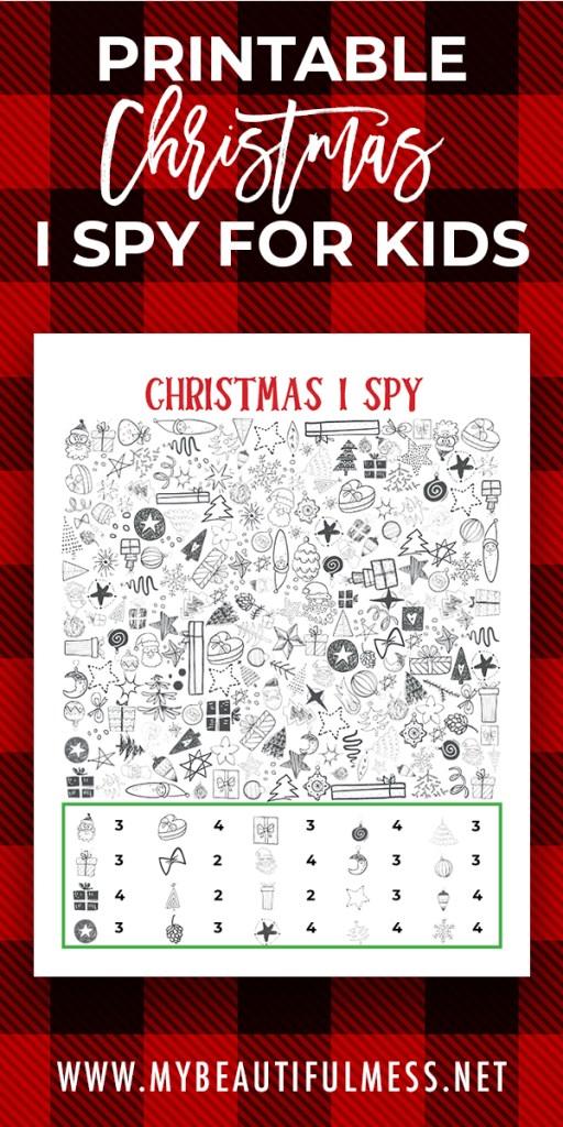 printable christmas I spy
