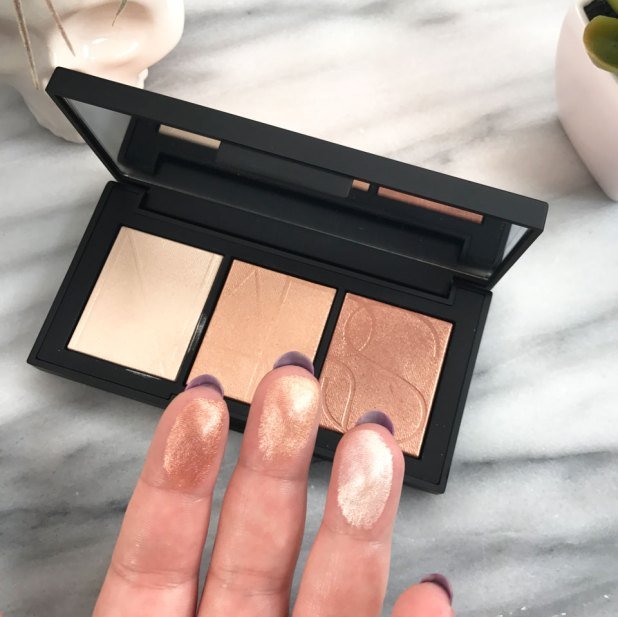NARS Banc de Sable Highlighter Palette Swatches