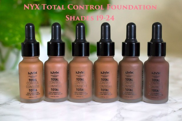 NYX Total Control Foundation Shades 19-24