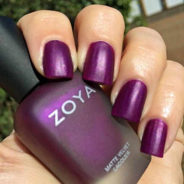 zoya matte velvet iris swatch by my beauty bunny