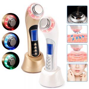 Ultrasound Beauty Device, Skin Care, Ion LED Photon-