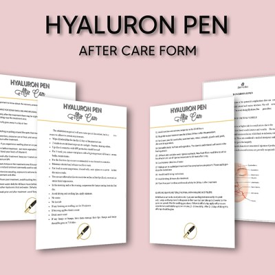 Hyaluron Pen After Care best USA client form