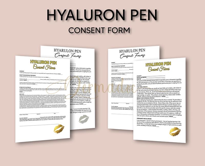 Hyaluron pen Consent form USA,UK, Australia