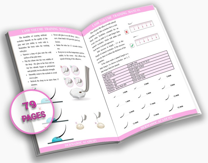 full volume lash extensions training manual