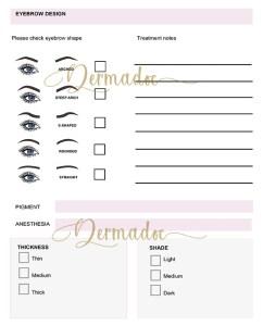 Microblading Consent Form, download PDF digital