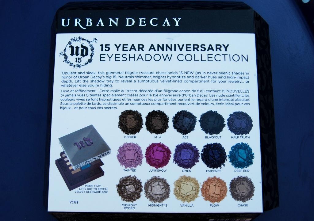 Urban Decay palette 15e anniversaire