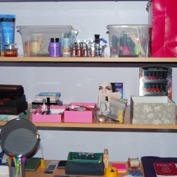 Mon rangement makeup #1 mon bureau