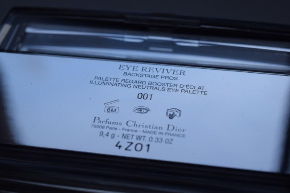 Dior Eye Reviver palette 6