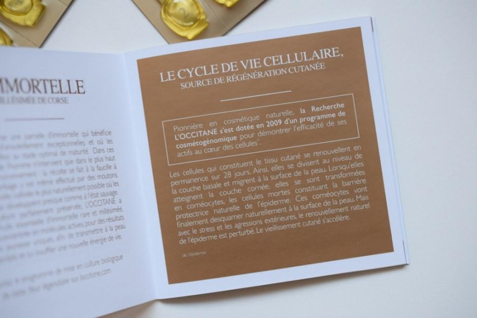 L Occitane programme divin Immortelle 11
