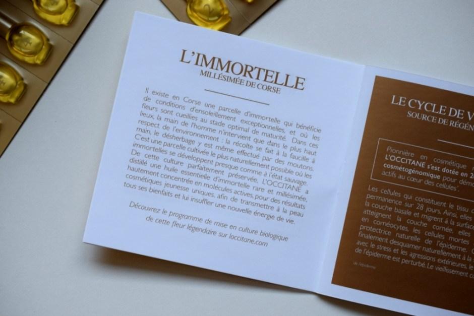 L Occitane programme divin Immortelle 12