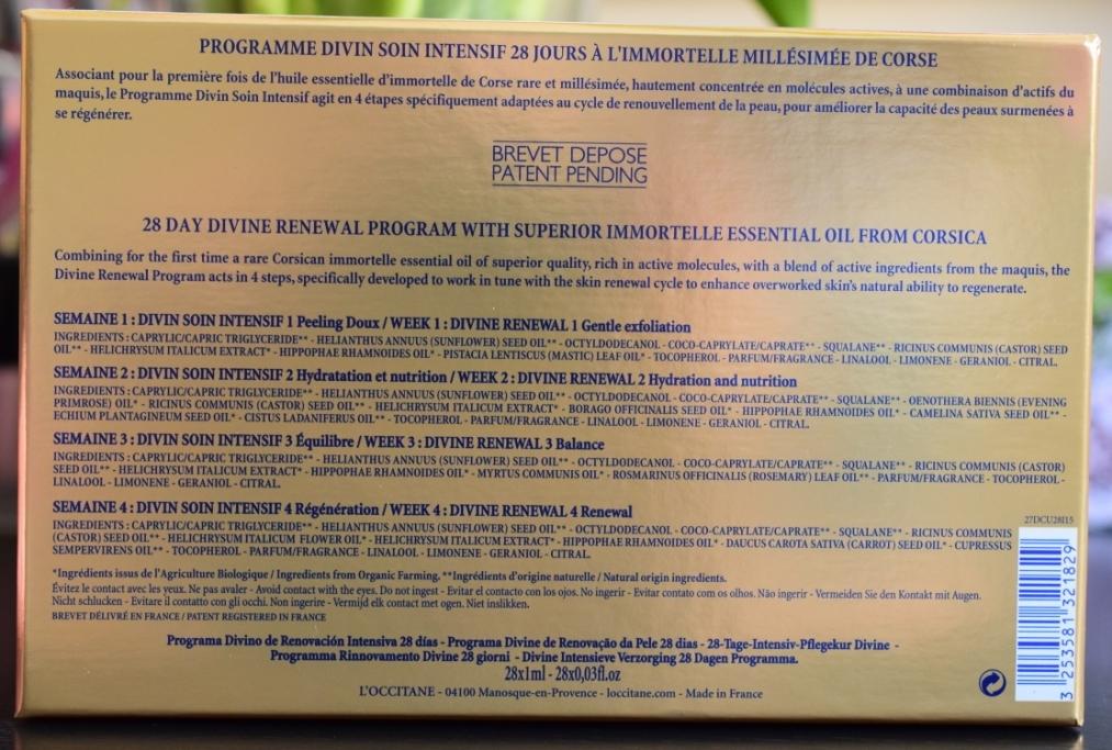 L Occitane programme divin Immortelle 3